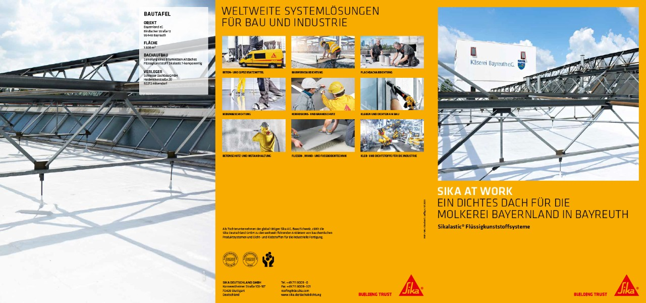 Sika at Work: Molkerei Bayreuth